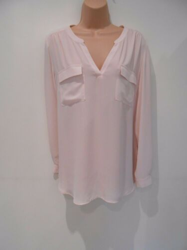 NEW UK 16 or 20 M/&S Collection Long Sleeve Blush Smart Party Blouse Tunic Top