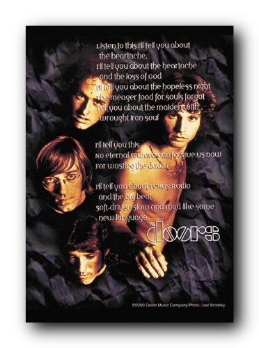 FABRIC POSTER MUSIC HFL0279 30x40 WALL HANGING THE DOORS MORRISON POEM