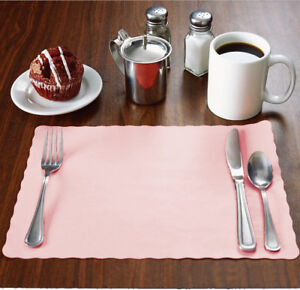 100-Raise-Baby-Light-Pink-Paper-Placemats-Scalloped-10x14-place-mats-Disposable