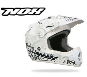 Casque Cross Nox N725 Moto Cross Enduro Quad Déco Beige Marron Neuf