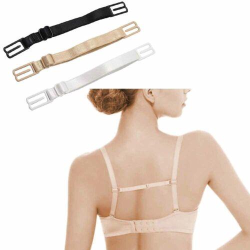 3 Pcs Women Nonslip Elastic Adjustable Band Bra Strap Holder Racer Back Clip