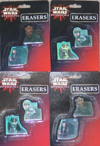 Star Wars Episode I Box of 24 Character Erasers SEALED