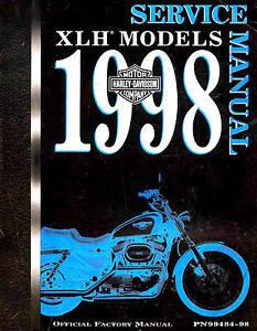 1998 Harley Davidson XLH Models Service Repair Shop Manual FACTORY ...