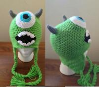 Hand Crochet Monster Inc Mike Beanie / Hat Made To Order