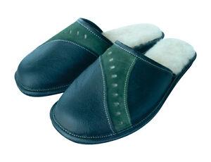 Herren Hausschuhe, Pantoffeln,echtes Leder, gefüttert,Wolle 40,41,42,43,44,45,46