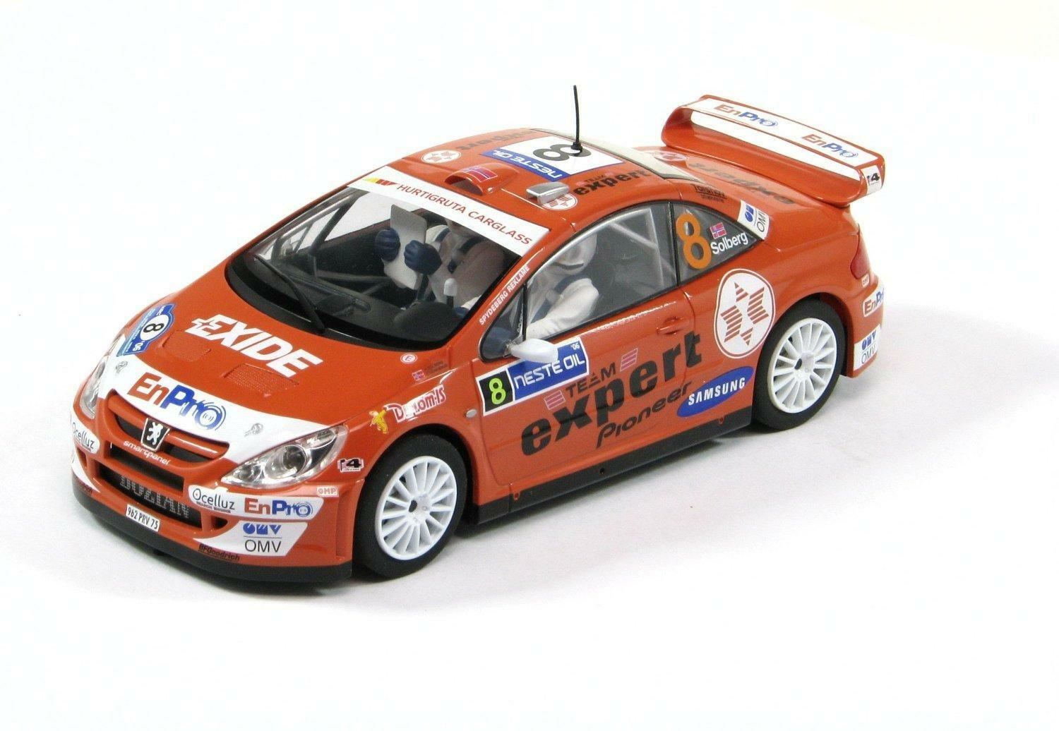 SCALEXTRIC C2885 Peugeot 307 Henning Solberg Racing Car Aidio Model Collectable