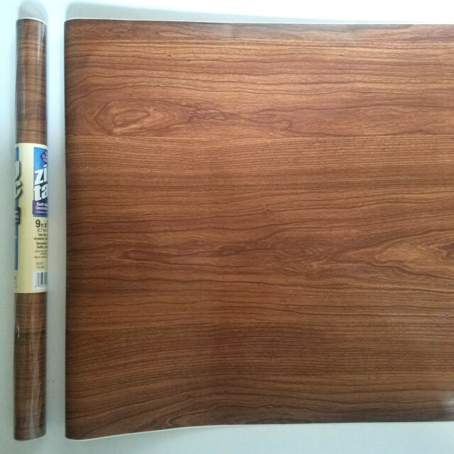 3 Rolls Con Tact Wood Grain Paper Self Adhesive Wallpaper Shelf Liner Cover For Sale Online Ebay
