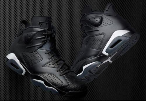 Nike Air Jordan VI Retro 6 Black Cat Black-White 2018 AUTHENTIC Comfortable Casual wild