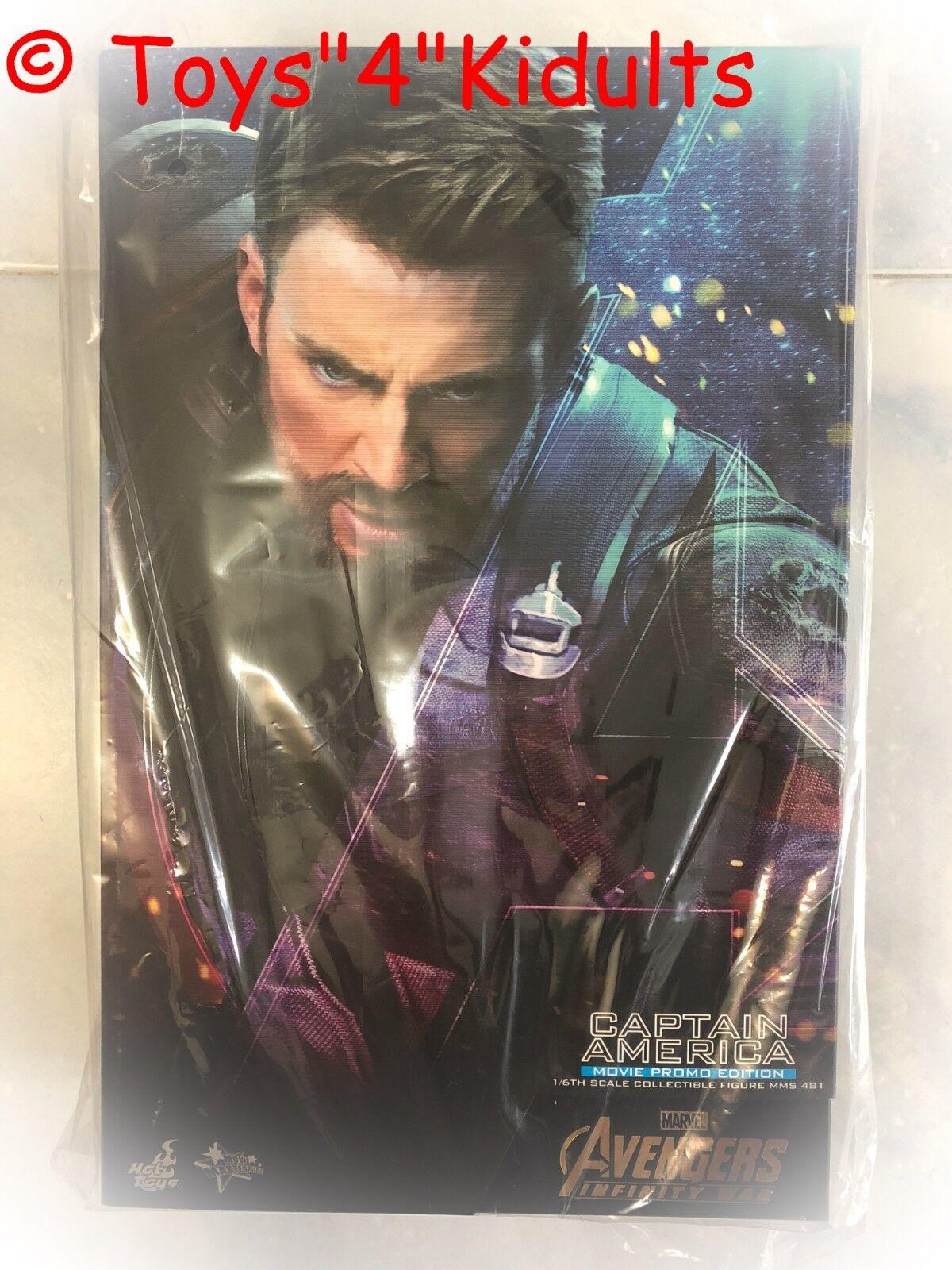 Hot Toys MMS 481 Vengadores 3 Infinity Guerra Capitán América (edición Promo de película)