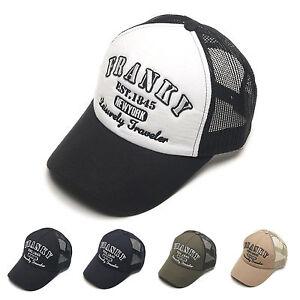 972ee9bc76c Unisex Mens Womens Franky New York Cool Mesh Baseball Cap Snapback ...