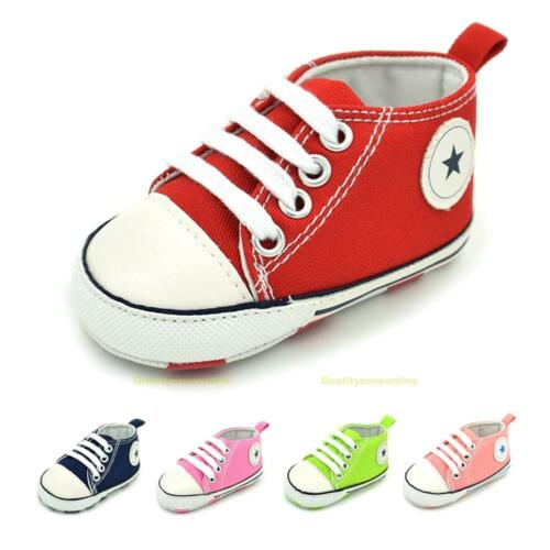 Boy Girl Kids Baby Infant Toddler Shoes Fashion Prewalker Anti-slip Canvas Shoes