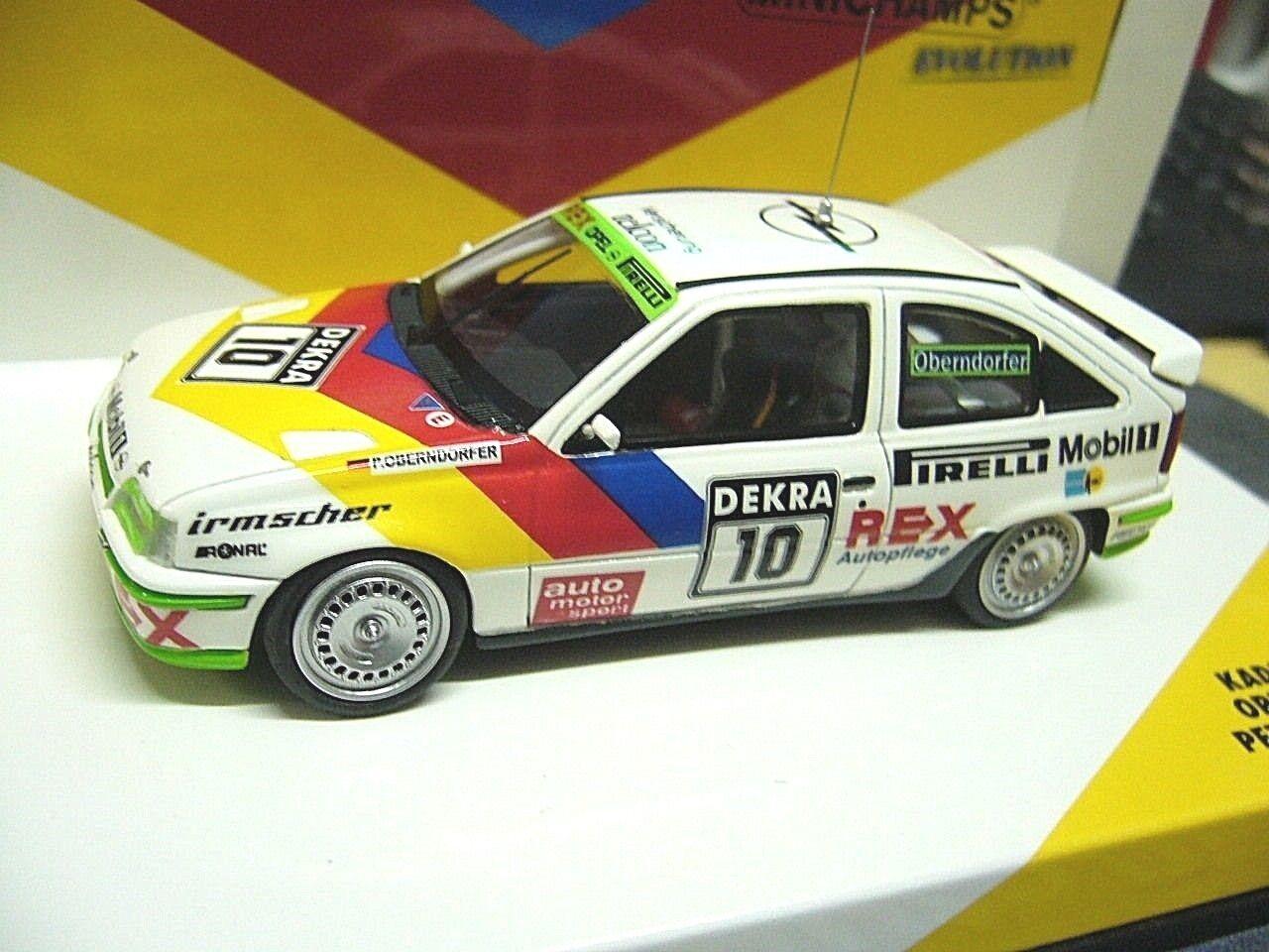 Opel Kadett E GSI DTM viajes auto 1989  10 Oberndorfer irmscher Minichamps 1 43