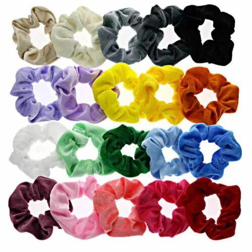 20 Pack Hair Scrunchies Velvet Scrunchy Bobble Elastic Hair Band Ponytail Color