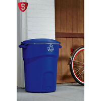 Garbage Trash Can Outdoor Container Recycling Plastic Handle Office Home