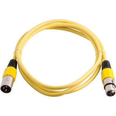 3 Pin XLRF to XLRM Mic Cord Premium 6 Foot White XLR Patch Cable Cord