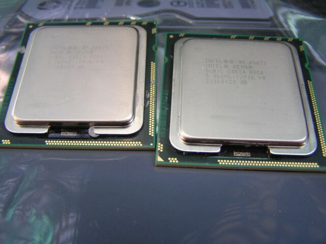 MATCHED PAIR 2X Intel Xeon Processor X5675 3.06GHz CPU 6 HEX CORE SLBYL 12M