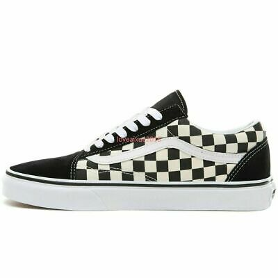 2020Vans Old Skool Primary Check Trainers Shoes Skate Classic Canvas Sneakers | eBay