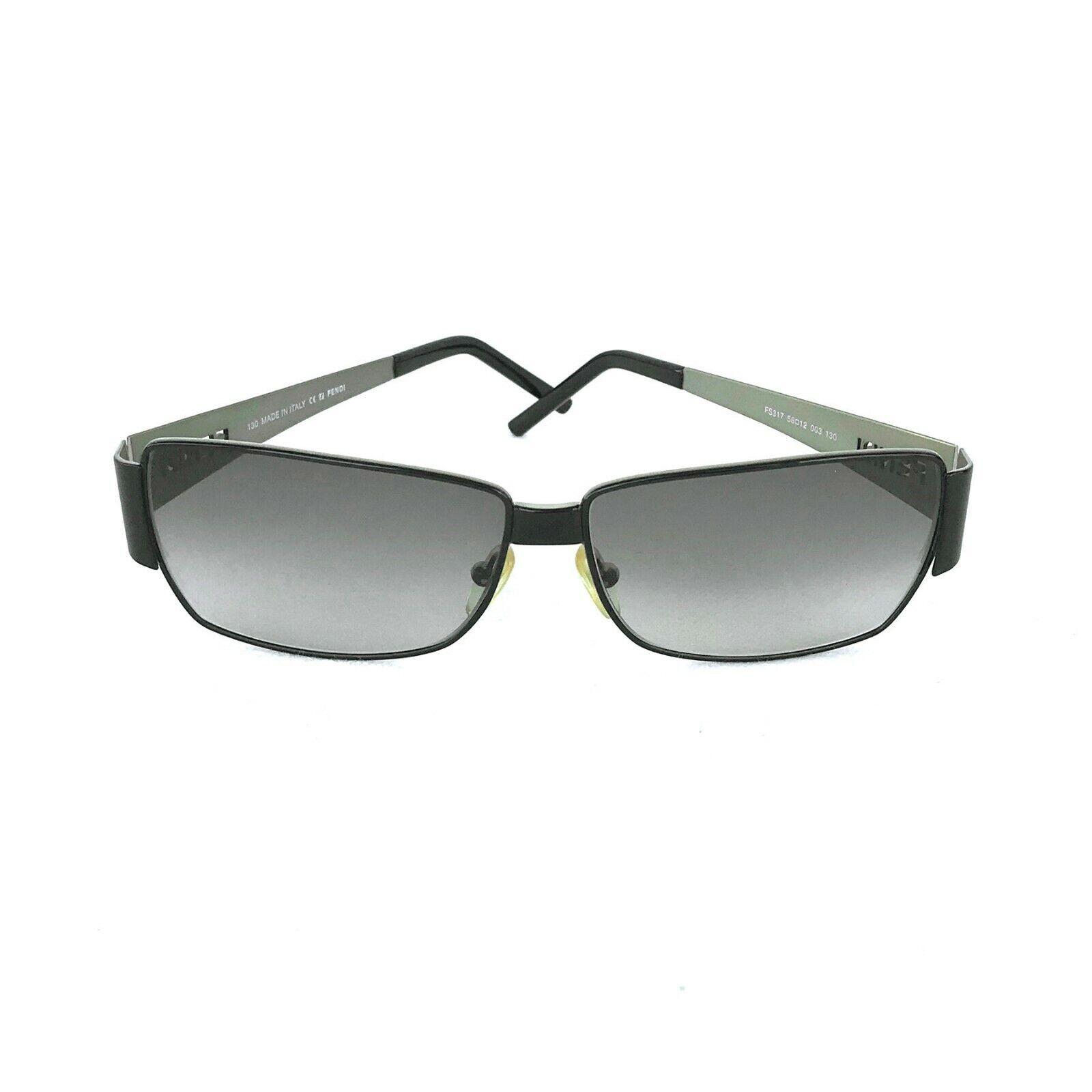 FENDI Black Rimmed Sunglasses FS317 Made in Italy Great Condition