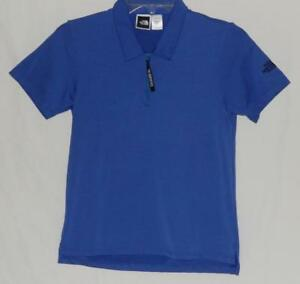 THE-NORTH-FACE-Women-039-s-Blue-Polyester-Short-Sleeve-1-4-Zip-Polo-Shirt-Size-Small