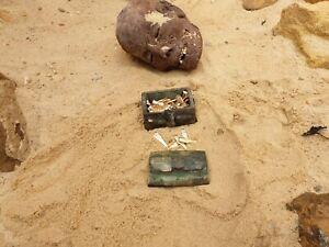 Rare Antique égyptienne ANTIQUE JEWELRY BOX 52 or argent dorer OUSHEBTI 2480 avant Jésus-Christ