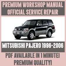 Mitsubishi pajero workshop & owners manual   free download.