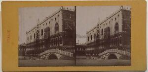Venezia Palais Ducale Viaggio IN Italia Foto Stereo Vintage Albumina Ca 1865