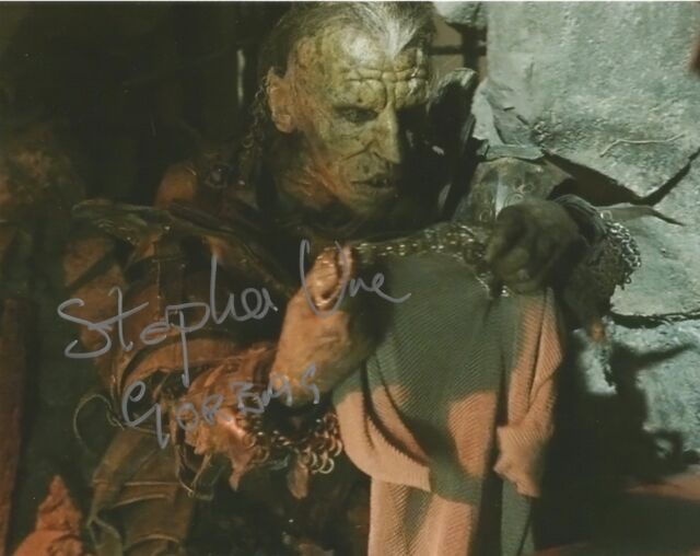 Stephen Ure as Gorbag Lord of the rings hand signed photo UACC AFTAL