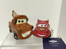 Disney PIXAR Cars Lighting McQueen and Mater Salt and Pepper Shakers Westland