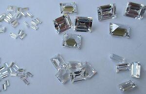 2 Cubic Zirkonia Marquise weiss 6x3 mm Facettenschliff synthetische Edelsteine