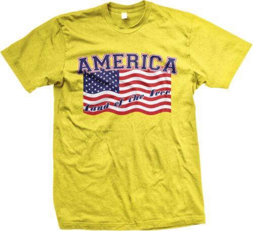 America Land of the Free Flag Pride USA Freedom July 4th Mens T-shirt
