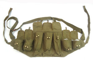 Vietnam-War-Chinese-Army-Canvas-Type-56-Chest-Rig-Ammo-Pouch-Mag-Bandolier-Mud