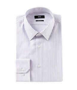Gutscheincode langlebig im einsatz 100% Zufriedenheitsgarantie Details about HUGO BOSS ENZO US BLACK LABEL DRESS SHIRT REGULAR FIT STRIPED  POINT -NWT