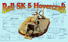 Build model Radio Control Bell SK 5 Hovercraft  Full size Printed PLAN & Article