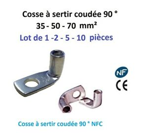 trou Ø 8 Cosse à sertir 25 mm² Lot de 10 pièces