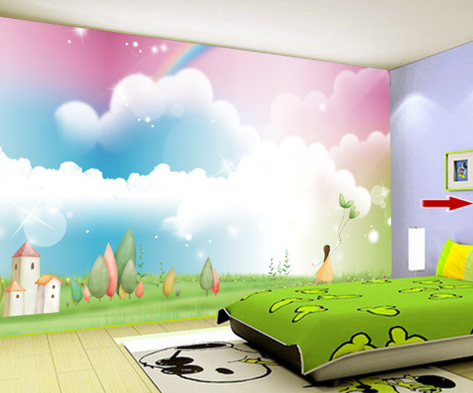 3D Weiß Cloud 564 Wallpaper Murals Wall Print Wallpaper Mural AJ WALL UK Summer