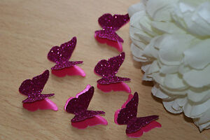 CERISE GLITTER PEARL 3D BUTTERFLY WEDDING CONFETTI TABLE DECORATION - <span itemprop='availableAtOrFrom'>Nottingham, Nottinghamshire, United Kingdom</span> - CERISE GLITTER PEARL 3D BUTTERFLY WEDDING CONFETTI TABLE DECORATION - Nottingham, Nottinghamshire, United Kingdom