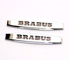 2x High quality Brabus Emblems Badge Side Sticker 3d for Mercedes Benz Brabus YU