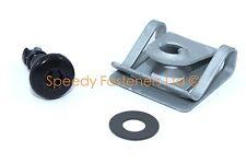 Black Dzus Hex Allen Quick Release Quarter Turn 17mm Fairing Fastener Clip Stud