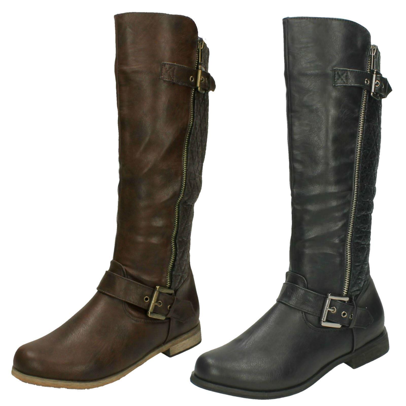 Spot On Ladies Calf Length Boots