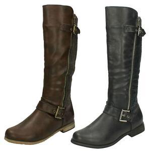 Ladies Calf Length Boots Spot On