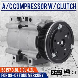 Image Is Loading Set Ac Compressor For 04 07 Ford Freestar