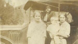 West-Virginia-Family-With-Classic-Antique-Car-Appalachia-Antique-Photo