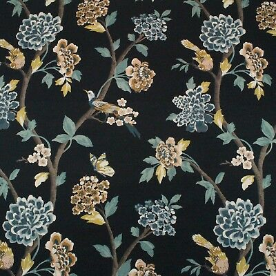 Home Decorator Fabric Robert Allen Helene Floral and Bird 1 Yard x 54/""