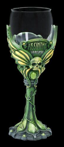 Glas Kelch - Absinth - Gothic Weinkelch Trinkbecher Weinglas