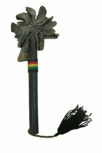 African Goat Toe Unas with stick - Recycled Rattle Shaker