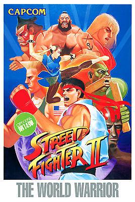 4 Sizes|#2 MAME Arcade Snes Sega PS4 xbox Pi Street Fighter 2 Retro Game Poster