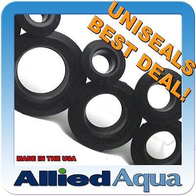 UNISEAL Bulkhead Alternative hydroponic aquaponic aquarium aquaculture uniseals
