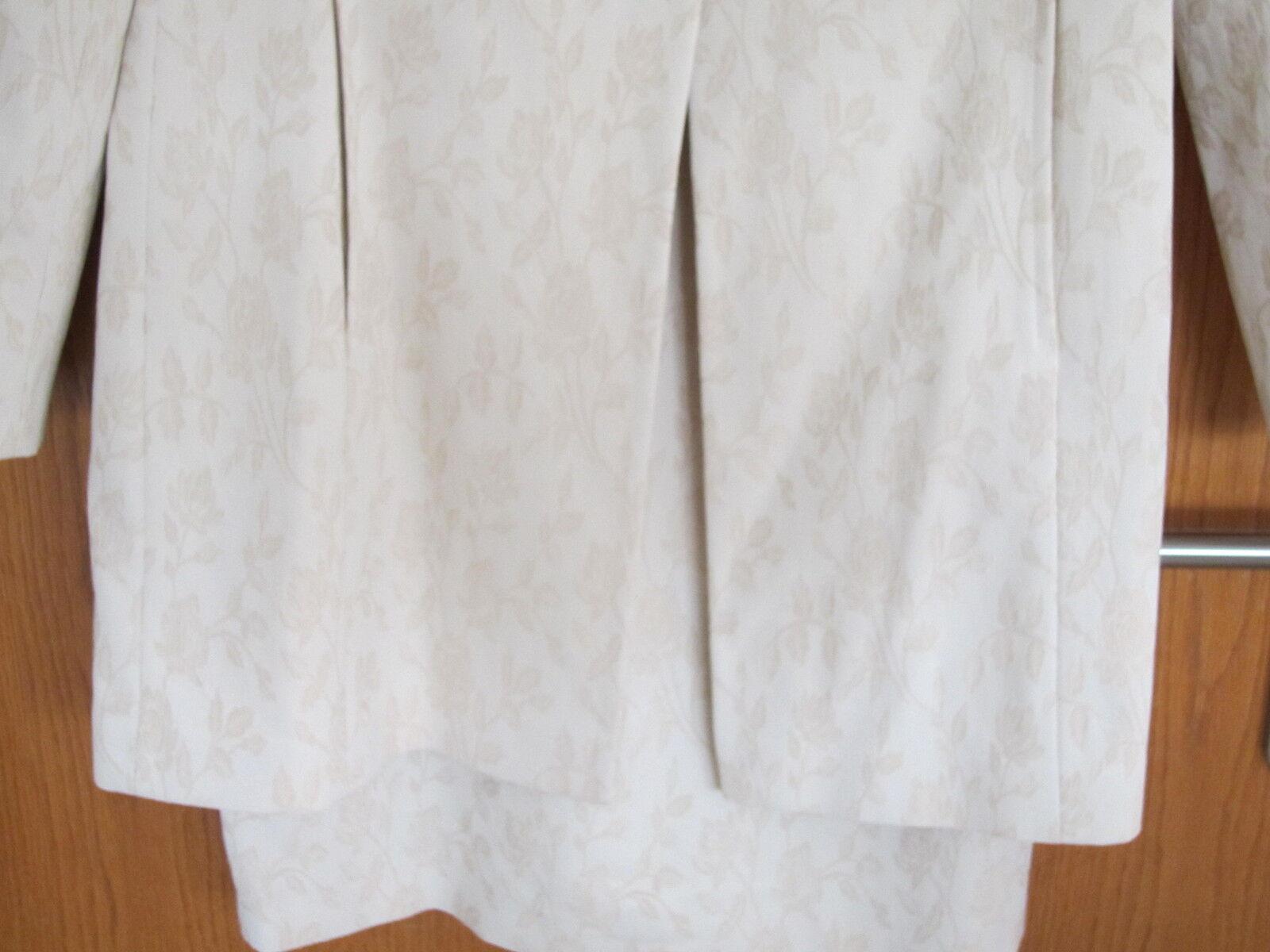 Kleid + Mantel Gr. 84 42 44 lange große Größe Größe Größe Hochzeit Brautkleid Kommunion Fest 8f7a15
