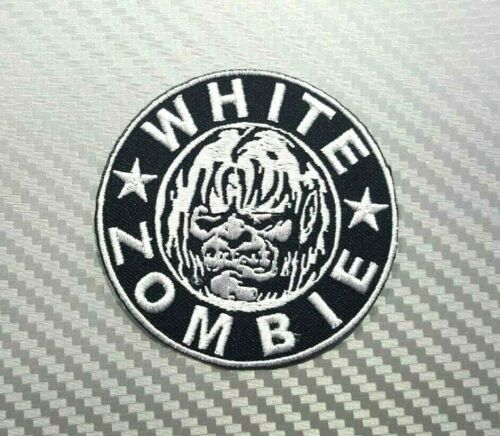 WHITE ZOMBIE ROCK THRASH METAL WOVEN MUSIC BAND Embroidered Patch Iron Sew Logo