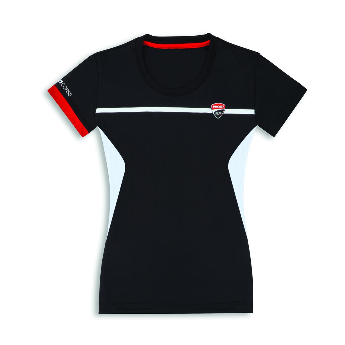 DUCATI T-Shirt Corse Power A Maniche Corte Camicia Donna Shirt Nuovo